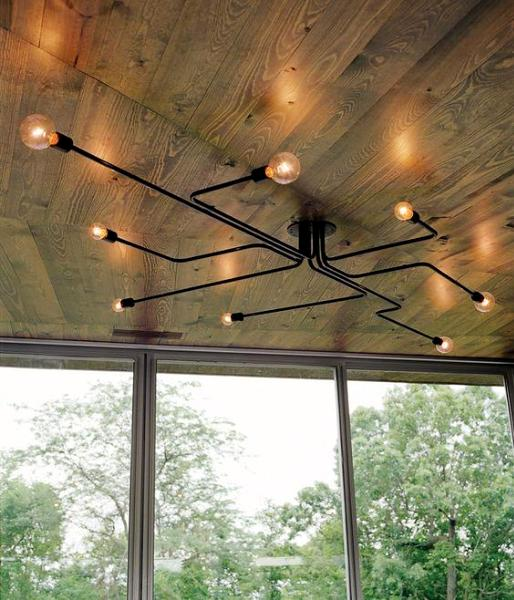 """Circuit Board"" Ceiling Light"